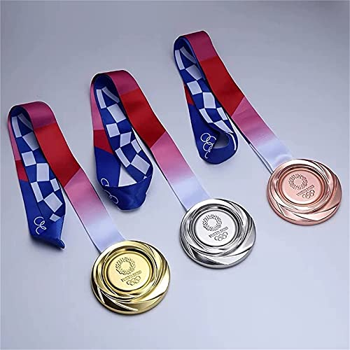 オリンピックメダル, 2020/2021日本東京オリンピックメダルレプリカ金メダルリボンネックレス 1 1亜鉛合金メダル装飾 メダルバッ