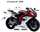 Kit completo de pegatinas Yamaha R6 desde 2008 – 2009 blanco/rojo