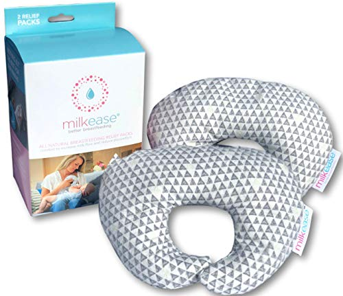Milkease All Natural Breastfeeding/Nursing Relief Pack - Helps Increase Milk Flow & Let Down, Release Clogged Milk Ducts, Empty Breasts, Decrease Time Pumping, Increase Milk Supply - 2 Pack Grey