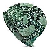 Viplili Gorro de Abrigo, Vintage Octopus Set Men Slouchy Gorro de Lana Women Headwear Sleep Cap Skull Cap Knitted Hat