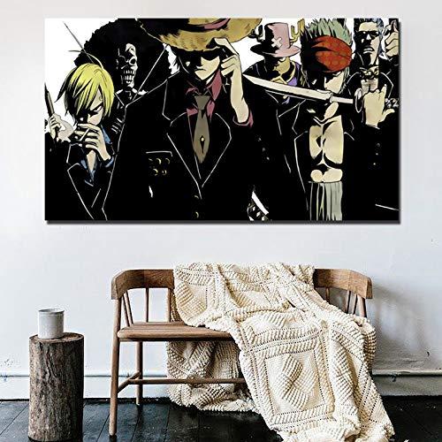 Anime Cartoon Tapete Kunst Leinwand Poster drucken Moderne Bilder für Wohnzimmer Hauptdekoration,Rahmenlose Malerei,40x70cm