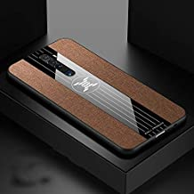 For OPPO RENO 2 Stitching Cloth Textue Shockproof TPU Protective Case New (Black) Sunsshine (Color : Brown)