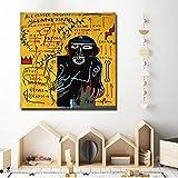 adgkitb canvas Jean Michelle Tela Tela Pittura Casco Immagine Stampa Soggiorno Camera da Letto Decorazione 40x40 cm Senza Cornice