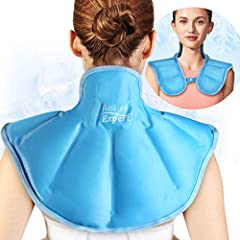 Innovative & Two-sided Design- The Relief Expert neck shoulder ice pack adopts dual-fabric providing two kinds of intensive cold. One side is soft plush fabric that is available to use straight to skin, stays cold without condensation and prevents co...