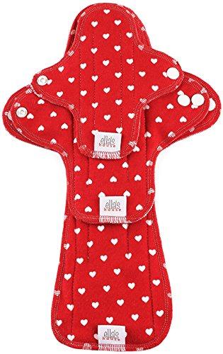 Moon Pads Trial-Set waschbare Slipeinlagen aus Bio-Baumwolle 3er-Set red hearts