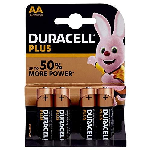 Duracell Plus Power Typ AA Alkaline Batterien, 4er Pack