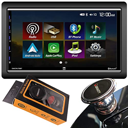 New Dual Electronics DMCPA79BT 7 Double Din Mechless Digital Media Receiver with Apple CarPlay Andr...