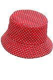 Vococal - Baby Leinwand Sonnenhüte - Klappbar Fischerhüte - Sun Eimer Hüte Cap für Aktivitäten im Freien, Roter Punkt