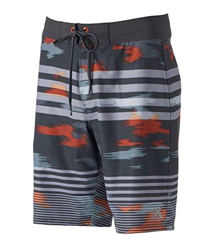ZeroXposur Mens Shark Swim Bottom Board Shorts, Black, 30