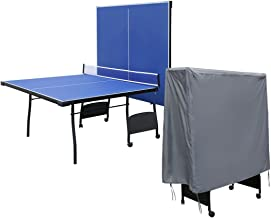 "WOMACO Upright Ping Pong Table Cover - Waterproof Dust Proof Table Tennis Table Protector - 60"" x 59"" x 29.5"" (Gray)"
