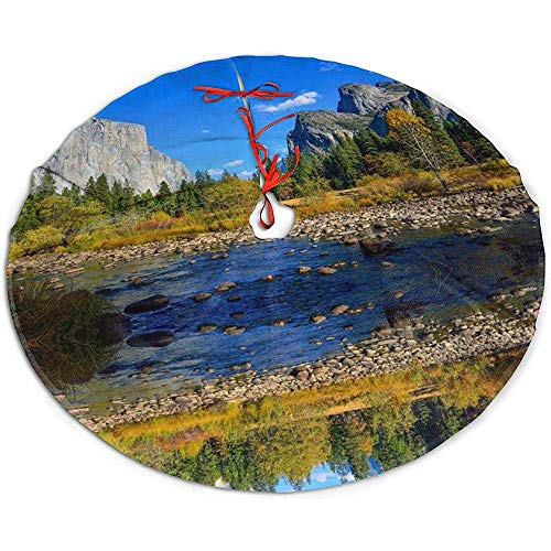 ALLdelete# Christmas Tree Skirt Yosemite Park Weihnachtsbaum Rock Xmas Holiday Decoration, 91 cm (36 Zoll)
