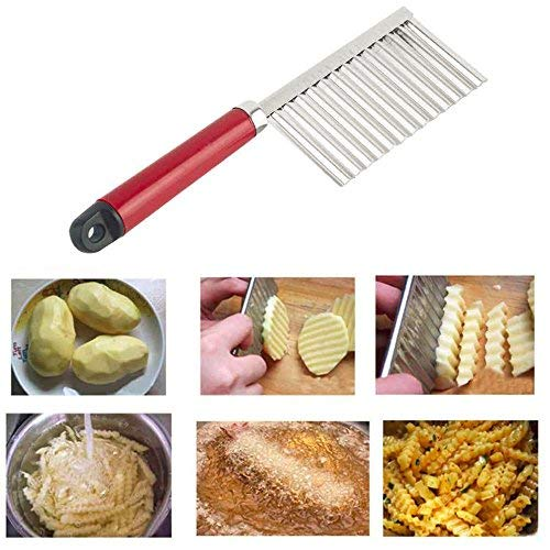 Potato Wavy Edged Knife Multifunction Stainless Steel Fruit Cutting Cooking Tool