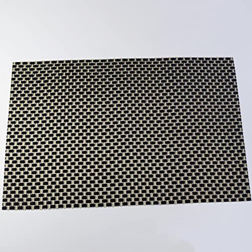 CXSTWIN Juego de 4 manteles individuales resistentes al calor, a las manchas, antideslizantes, lavables y duraderos, de vinilo