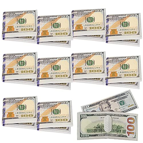 ArtCreativity $100 Wallets for Kids, Set of 12, US 100 Dollar Bill Money Wallets for Boys and Girls, Vegas and Casino Party Favors for Adults, Fun Goodie Bag Fillers, and Teacher Rewards
