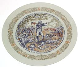 Limoges The Marquis de Lafayette wounded in the leg Battle of Brandywine Lafayette Legacy Collection plate - CP1354