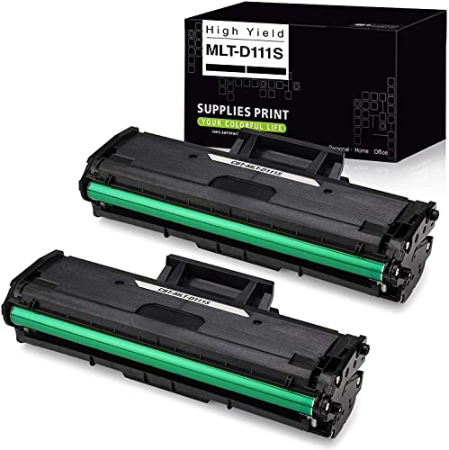 Compatible Toner Cartridge Replacement for Samsung MLT111S MLT-D111S MLTD111S D111S, High Yield, Use with Samsung Xpress M2020W, M2070FW, M2070W Laser Printer (Black), 2-Pack
