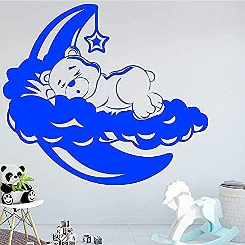 Dormir Oso Pared Arte Calcomanía Etiqueta De La Pared Material Diy Arte Mural Decoración Sala De Estar Dormitorio Fondo Decoración Accesorios 43 * 37 Cm
