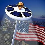 best solar flagpole lights Blinngo