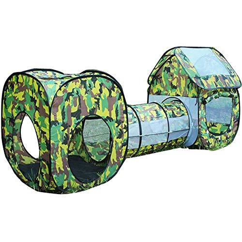 Carpa de túnel emergente 3 en 1 para niños, Juego de Interior al Aire Libre para niños pequeños, niñas, como Carpa de Juguete para Gatear