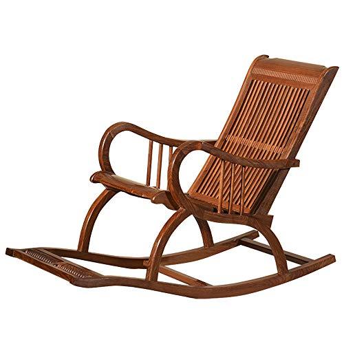 SMGPYHWYP Schommelstoel voor tuin of terras, van natuurlijk massief hout, comfortabele gebogen rugleuning, perfect voor binnen en buiten.