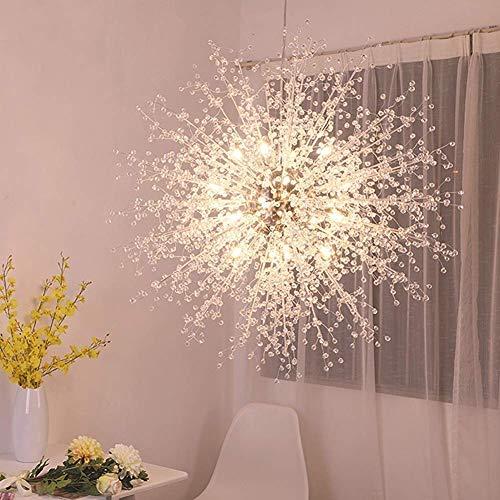 HJ-DENG Lampadario Fuochi d'artificio luci LED in acciaio inox lampadario di cristallo di illuminazione a LED Terra Soggiorno di disegno moderno/Bianco