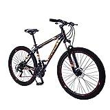 Vincci Store Mountainbike 21 Speed 29 Zoll Aluminium-Legierungsrahmen Mountainbike, geeignet für 1,6-1,8 Meter Fahrer, reduzieren Pendelzeit zur Schule und Arbeit (Orange)