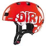 uvex Unisex Jugend Kid 3 Fahrradhelm, Dirtbike neon red, 55-58 cm