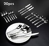Elegant Life Besteckset, 20 TLG. Besteckset Edelstahl-Besteckset Geschirr Messer Messer Löffel, Service für 4 Personen - 5