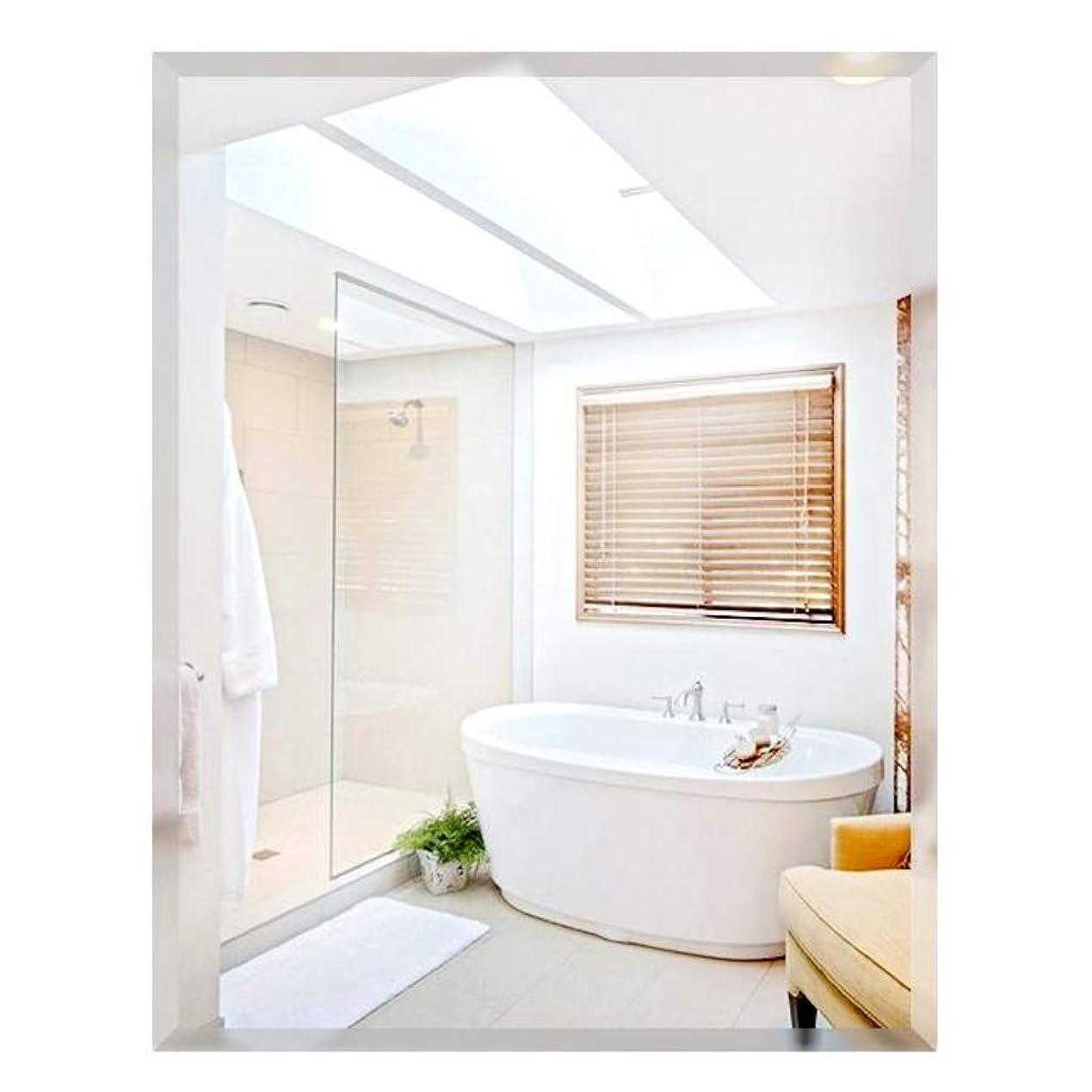 吸収剤開いた懸念現代的な銀製の居間の寝室の虚栄心ミラーの家の剃る廊下の壁ミラーの長方形はフレームレス設計35x45cm、40x60cm、50x70cm、60x80cmを斜めにしました