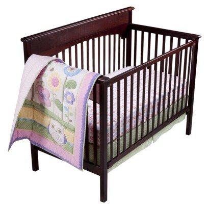 Cirque Owls N Floral 3PC Baby Girl Crib Bedding set by Cirque