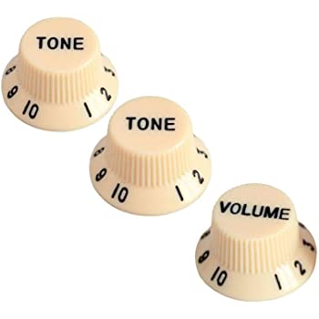 Musiclily Pro Imperial Pulgadas Tama/ño Botones de Potenci/ómetros 2 Tono 1 Volumen Perillas Set para Guitarra El/éctrica USA Strat Style Blanco