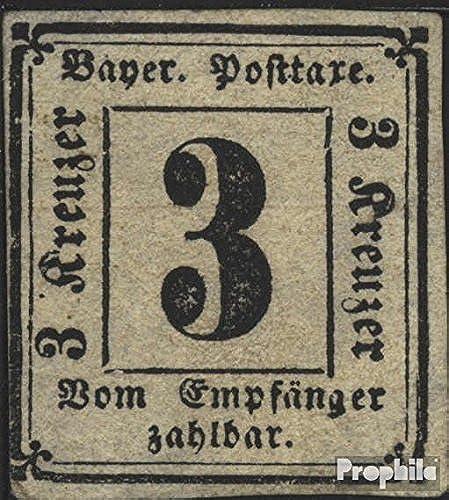 Bavière p1 (complète.Edition.) Exemplaire Normal testés 1866 Paragraphe (Timbres pour Les collectionneurs)