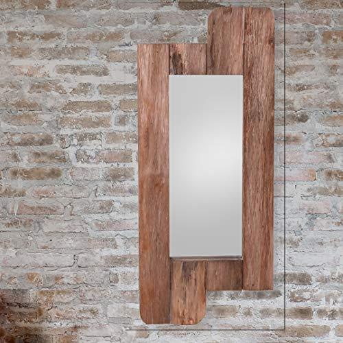 NACH FJ-17-2021 Wall Mirror with Drawers Rustic Grey 26.8 x 6.5 x 37.6