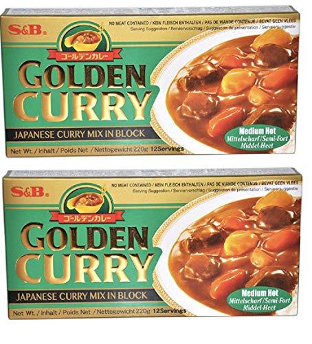 GOLDEN CURRY - Mélange pour curry japonais épicé (moyen) lot de 2