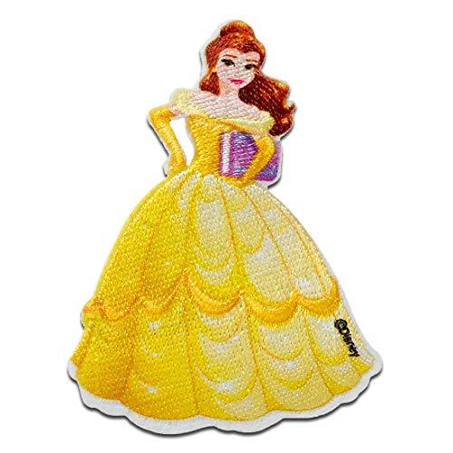 Disney  La bella y la bestia Bella Princesa - Parches termoadhesivos bordados aplique para ropa, tamaño: 7,5 x 5,7 cm