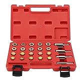 GAESHOW 64Pcs Kit di Riparazione per Tappo di Coppa dell'olio Viti Strumento di rifilatura M13 M15 M17 M20 Forniture per riparazioni automobilistiche