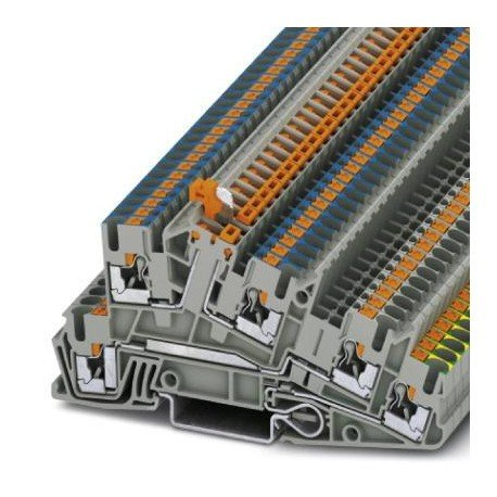 Phoenix Contact PTI 2,5-PE/L/NTB 3213955 Installationsschutzleiterklemme Polzahl: 5 0.14 mm² 4 mm² Grau 1 St.