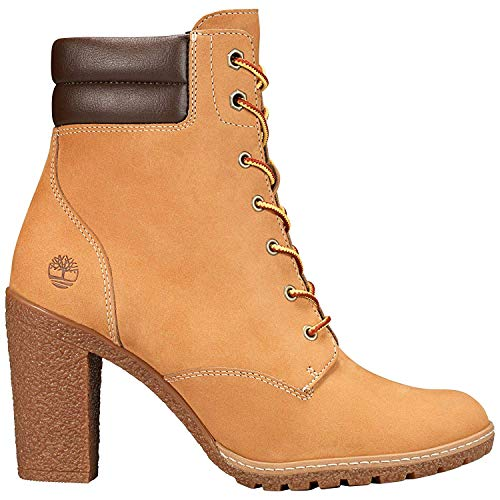 Timberland Women's Tillston 6 Inch Double Collar Boot, Wheat Nubuck, 8