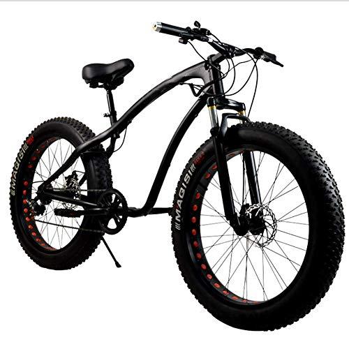 XIAOFEI Fat Bikes 2020, Magazzino Biciclette, Pneumatici Larghi Sospensione Completa Mountain Bike Big Fat Tire 26 '' Dopo 7 velocità Mountain Bike Neve Ad Alta velocità