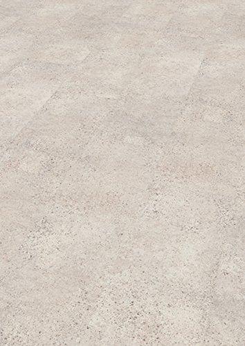 EGGER Home Laminat weiß / hell grau Steinoptik - Quincy Sandstein  EHL003 (8mm, 2,533 m²) Klick Laminatboden | Bodenbelag im Fliesenformat