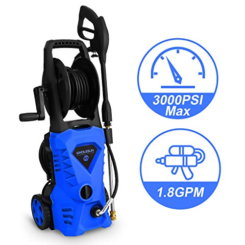 WHOLESUN 3000PSI Electric Pressure Washer 1.85GPM 1600W Power Washer with with...