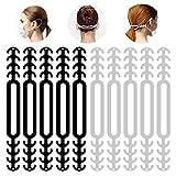 Extensions de Sangle de Masque - [Pack 10 Unités] Crochet Antidérapant Boucles Fixateur Bande Régable en Silicone Durable pour Prévention des Maux Oreilles et Visage