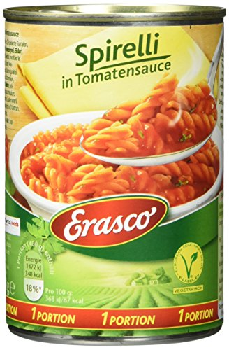 Erasco Spirelli in Tomatensauce, 3er Pack (3 x 400 g)