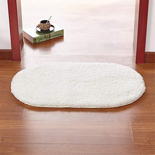 YSDDM badmat waterabsorptie shaggy tapijten en matten anti-slip badkamer vloermat voor toilet ovale bad matten 50 * 80/60 * 90cm deurmat vloertapijt -in bad matten van huis & tuin