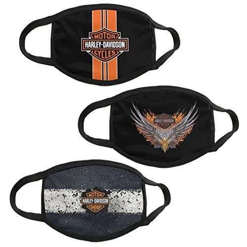 3PCS American Eagle Face Mask Motorcycle Adult Dust Washable Reusable Bandanas Balaclavas Mouth Cover for Men Women
