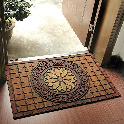 Woxin, tappetino antiscivolo per ingresso e porta, per interni ed esterni, per porte e scarpe, facile da pulire, ideale per ingresso e ingresso