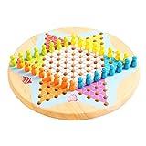 XWZJY Juegos de Mesa Tradicionales Checkers Ludo Set para Adultos Niños Principiantes Niños Juego de Entretenimiento para niños Niños Adultos hasta Seis Jugadores