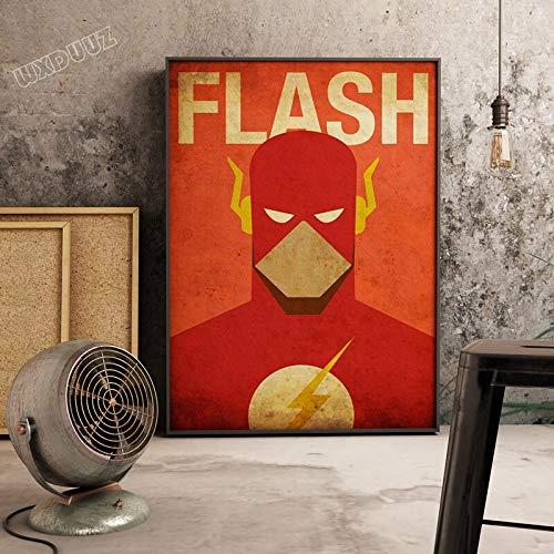 XWArtpic Klassische Superheld Film Supermacht Retro Poster Bild Cartoon Kindergarten Kinderzimmer wandkunst Wohnkultur leinwand malerei 30 * 40cm K