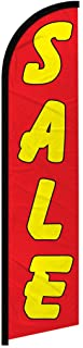 Infinity Republic - Sale (Red & Yellow) Windless Full Sleeve Banner Swooper Flag - Perfect for Businesses, Dealerships, Car Lots, Furniture Stores, etc!