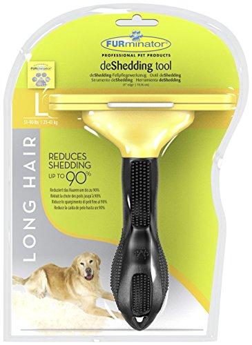 FURminator deShedding Hunde-Pflegewerkzeug zur Fellpflege – Hundebürste in Größe L zur gründlichen Entfernung von Unterwolle und losen Haaren – für langhaarige Hunde - 2